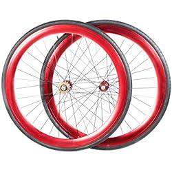 Vilano - Rueda Fixie 700C para bicicleta, velocidad única, rouge - Rouge