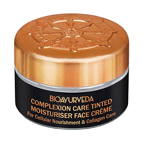BIOAYURVEDA Complexion Care Tinted Moisturizer Face Cream | With Musk Mallow-known as The Natural BOTOX plant | 20 gm