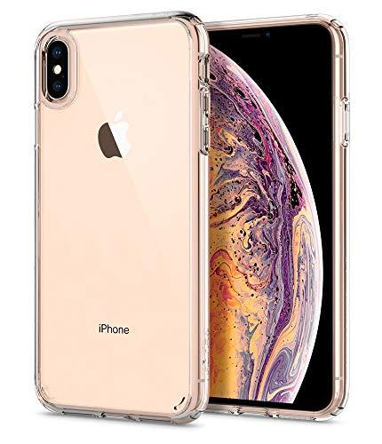 """Spigen Ultra Hybrid Funda iPhone XS MAX con Tecnología de cojín de Aire y protección híbrida de la Gota para iPhone XS MAX 6.5"""" (2018) - Transparente"""