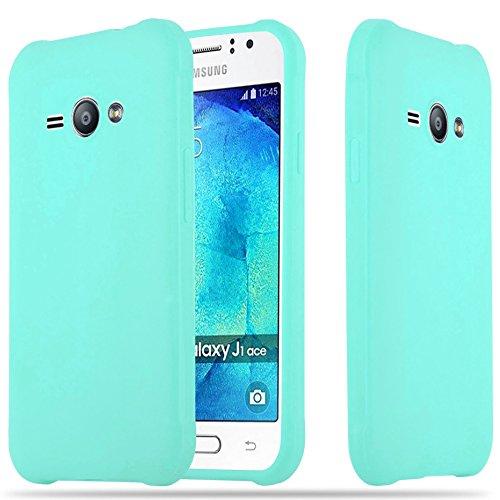 eb569731e6a Cadorabo Funda para Samsung Galaxy J1 Ace en Candy Azul - Cubierta  Proteccíon de Silicona TPU
