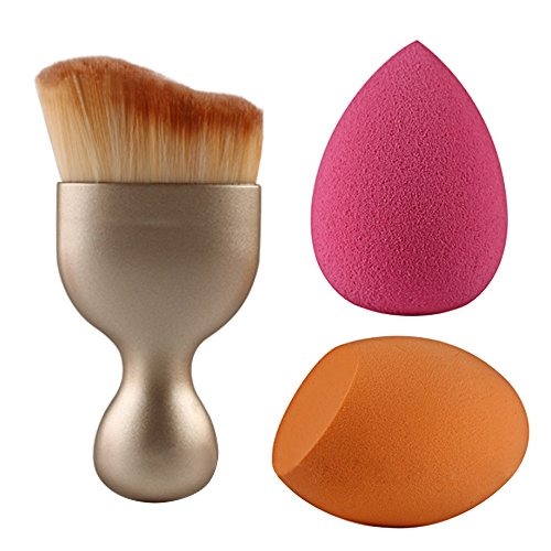 Pinceaux et Houppettes à Poudre Professionnel Brosse de Maquillage Brush Cosmétique Outil de Cosmétique