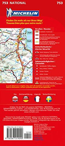 Michelin Schweden: Straßen- und Tourismuskarte (MICHELIN Nationalkarten): Alle Infos bei Amazon