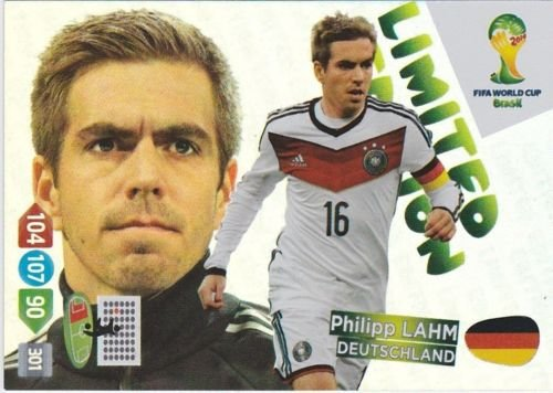 FIFA World Cup 2014 Brazil Adrenalyn XL Philipp Lahm Limited Edition
