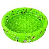 Decdeal Aufblasbar Baby Pool Planschbecken Kinderpool 3-Ring mit Antikollisions Bubble Boden Größe Optional Zufällige Farbe