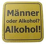 Bierdeckel mit Sprüchen - Männer oder Alkohol - 15er Packung