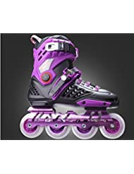ttll-adult patinaje, patines, Fancy de hombre y universidades, patines, 36, color negro