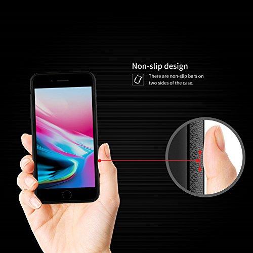 Hülle für iPhone 8 Plus, Nillkin Magic Case Series Silikon Flexible Ultra Dünn Soft TPU Schutzhülle Rückseite folie Back Cover [Kompatibel mit Nillkin Magnetische Kfz-Ladegerät] für iPhone 8 Plus iPhone 8 Plus 5.5''