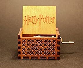 UrbanPro Antique Engraved Harry Potter Theme Wooden Music Box with Hand Cranked