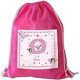Bolsa de natación globalpowder personaliseitonline, tema de hadas, color rosa karatekas, a Cole, rosa bolsa de deporte, regalos del bebé, bolsa, Bolso del PE