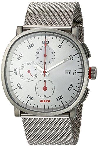 ALESSI - AL5030 - Montre Homme - Quartz - Chronographe - Bracelet Acier Inoxydable Argent