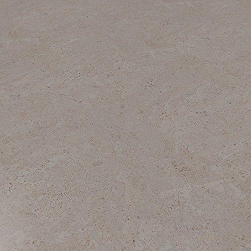CORCASA Korkboden Design strukturiert grau lackiert Klicksystem warmer Kork Bodenbelag Klick Ordos