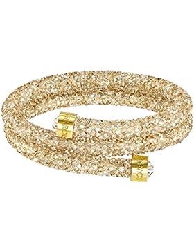 Armband Doppel Armreif Gold crystaldust Swarovski