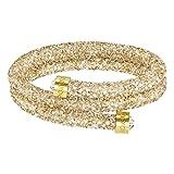 Swarovski Crystaldust Double Armreif, goldfarben