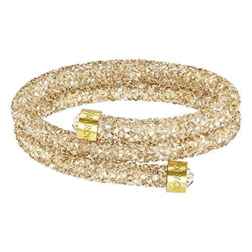 Swarovski bracciale rigido crystaldust double, dorato