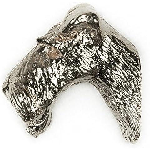 Fox Terrier a Pelo Duro Made in UK, Collezione Distintivo Spilla Artistici Stile Cani