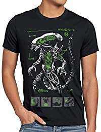 style3 Xénomorphe T-Shirt Homme ripley alien prometheus nostromo