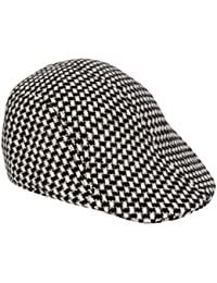 Krystle Men's Classy Checkered Suede Golf Cap
