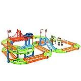 JAGENIE Zweilagige Spiralbahn Achterbahn Spielzeug Elektrische Schiene Auto für Kinder Geschenk