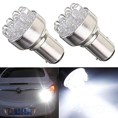 mark8shop 2x frein 1157BAY15D 12LED Tour de voiture de frein Stop Tail Light Ampoules