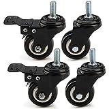 MultiWare Lot de 4 Roulettes Pivotante Caoutchouc Pour Chariot 200kg