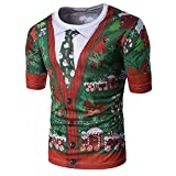 Bcfuda Uomo Camicia Felpa Maglietta Corta T-Shirt con Stampa Unisex di Natale Fruit of The Loom Valueweight T-Shirt Manica Corta
