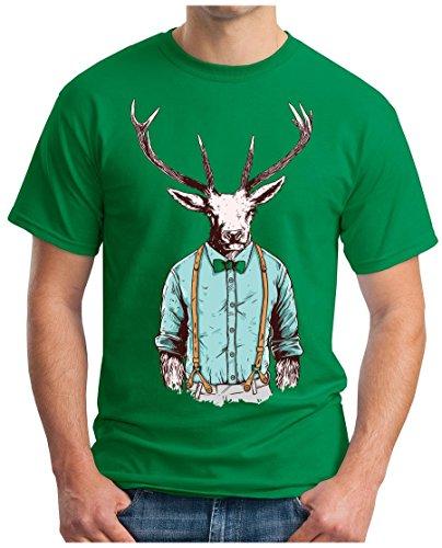 OM3 - HIPSTER-STAG - T-Shirt GEEK, S - 5XL Grün