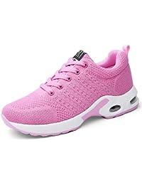 14400c67ba44e mogeek Laufschuhe Damen Herren Running Turnschuhe Fitness Low Top  Atmungsaktives Mesh Sneaker