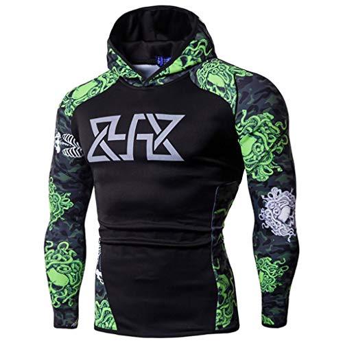 Preisvergleich Produktbild Sannysis Herren Fitness Langarm Bodybuilding Skin Tops Hoodie Sweatshirts Bluse