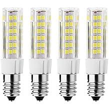 rayhoo 4pcs E14Base LED Bombilla 5W luz LED, 512835-SMD LED chipsets, 40W bombilla incandescente equivalente, no regulable, blanca, 6000–6500K, 400lm