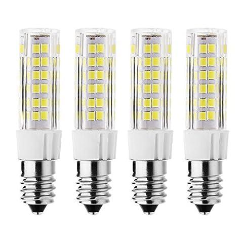 rayhoo 4Base E14Ampoule LED 5W Lumière Led, 512835-smd Chipsets LED, 40W équivalent à une ampoule à incandescence, non compatible avec variateur d'intensité Blanc, 6000–6500K, 400lm.