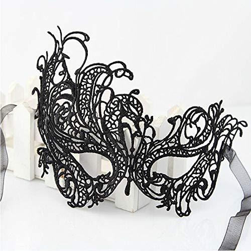 Elodia Haddon Die Hälfte Vor Weihnachten Halloween Maske Phoenix Maske Phoenix Spitzen Hebt Sexy Augenklappe Partei Bekleidungszubehör Transparente Satin - Schleife