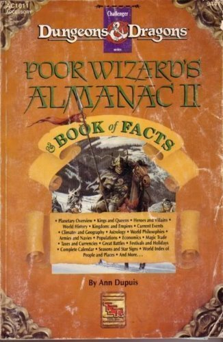 Poor Wizard's Almanac and Book of Facts: Dungeons and Dragons Game Accessory by Ann Dupuis (December 19,1992) par Ann Dupuis;A. Dupuis