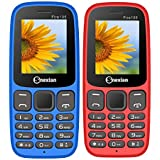 Snexian FIRE 105 Feature Mobile Phone Combo Of Two Mobile (Red+Blue) With 1.8 Inch, Dual Sim, Open FM, 1000 Mah Battery, Bluetooth, Camera, Upto 16 GB Expandable Memory, BIS Certified & 1 Year Warranty