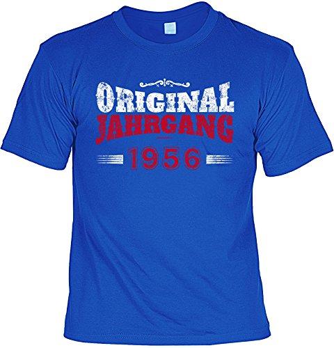 T-Shirt zum Geburtstag - Original Jahrgang 1956 - Geburtstagsgeschenk - Fun shirt - Geschenkidee - royalblau Royalblau