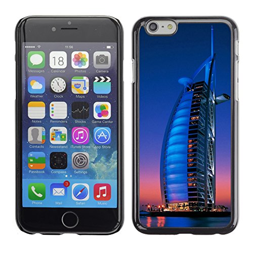Graphic4You Burj Al Arab At Night Dubai Postkarte Ansichtskarte Design Harte Hülle Case Tasche Schutzhülle für Apple iPhone 6 / 6S Design #5