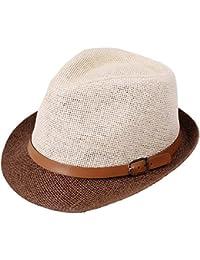 055c4771951bf Saoye Fashion Beanie Buckle Sombrero De Jazz De Dos Colores Sombrero para  Fácil De Igualar El Sol Hombres Y Mujeres con Sombrero Azul…