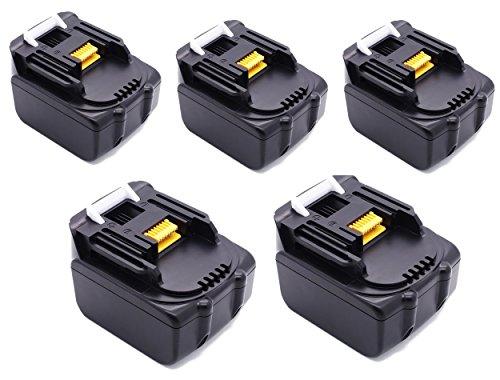 Preisvergleich Produktbild 18V/5.0Ah Werkzeugakkus 5 STÜCKE 18 V 5000 mAh Für MAKITA Bohrmaschine Akku 18V 5.0Ah Lithium-Ion Batterie ErsatzAkku BL1850 194205-3 194309-1 BL1850B BL1840B BL1830B BL1815B BL1815 BL1830 BL1840