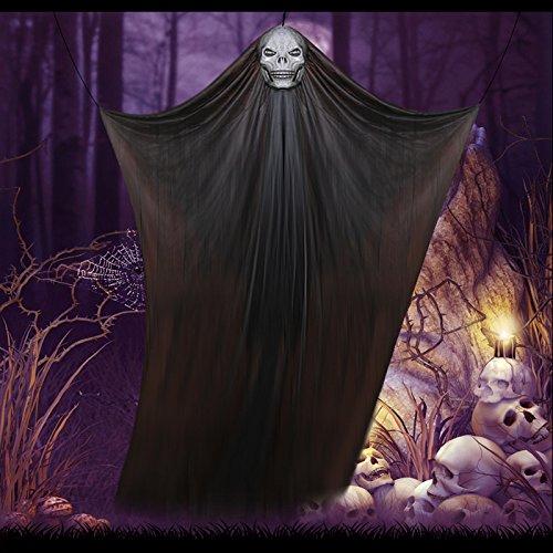 Kostüm Party Und Display - anqeeso zum Aufhängen Halloween Party Creepy Ghost Vorhang Kürbis Maske Himmel Kostüm Display Requisiten Halloween Party Events Dekoration Schwarz