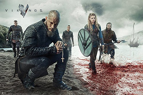 Póster Vikings, playa