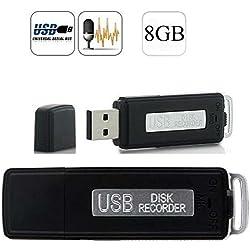 MP power @ Clé USB Numérique Enregistreur Flash Memory Stick Voice Dictaphone Recorder 8Go 8Gb 8 Go