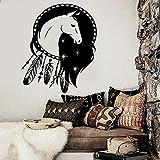 zqyjhkou Baby Kinderzimmer Wand Aufkleber Vinyl abnehmbare Dreamcatcher Pferd ethnischen Dekor...