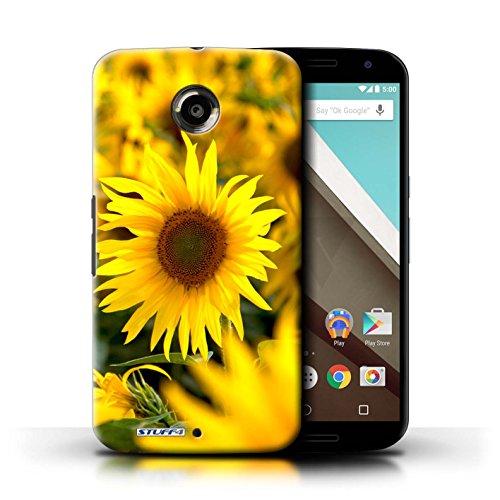 Kobalt® Imprimé Etui / Coque pour Motorola Nexus 6 / Fleur jaune conception / Série floral Fleurs Champs de fleurs