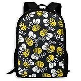 Zaini Zaino da campeggio Viaggio Cute Bumblebee Travel Hiking Backpack For Men And Women Outdoor College Laptop Bookbag Business Rucksack Fits MacBook Air