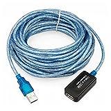 CABLE ALARGADOR REPETIDOR USB 2.0 MACHO - HEMBRA DE 10 METROS