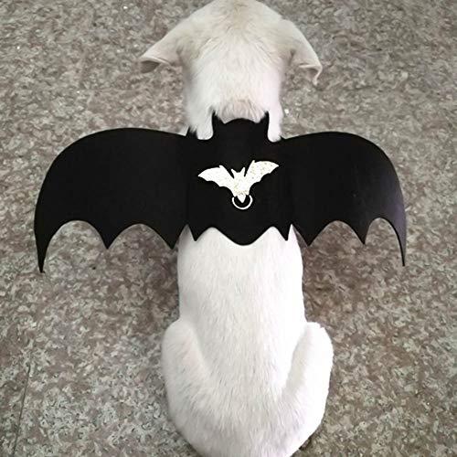 Kostüm Einfach Coole - yangzhoujinbei Halloween-Kostüm Fledermausflügel für Hunde und Katzen, Flügel, Weste, Cooles Kostüm, Kostüm, Kostüm, Outfits für Haustiere, einfach zu verstellen für Sicherheit und Komfort (S)