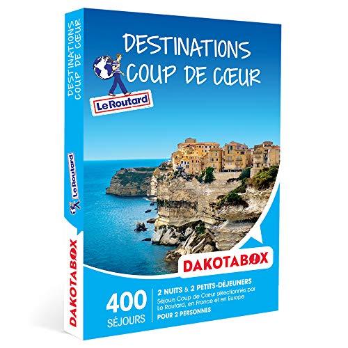 DAKOTABOX - Destinations Coup de Cœur - Coffret Cadeau Séjour - 2 nuits avec...