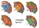 This umbrella (Chatri) is handcrafted by village artists in Rajasthan. The umbrella is beautiful and complete designer work. These handicrafts are designed in various colour combination and are offered in a multitude patterns, various other specifica...