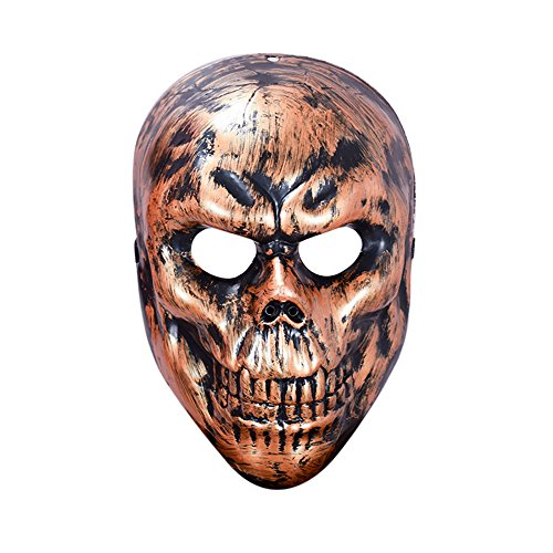 Maske Loveso Halloween Masquerade Ghosts Evil Skull Mask Cosplay Horror Face Head Mask Fancy Party_Bronze