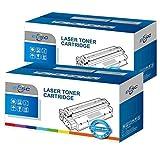 ECSC kompatibel Toner Patrone Ersatz für HP LaserJet P2050 P2055 P2055d P2055dn P2055x CE505X (Schwarz, 2-Pack)
