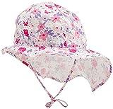 Döll Mädchen Sonnenhut mit Nackenschutz Mütze, Rosa (Pink Lady Rose 2720), 55